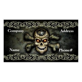 Tarjeta de visita del cráneo de la bandera pirata