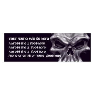Tarjeta de visita del cráneo del demonio