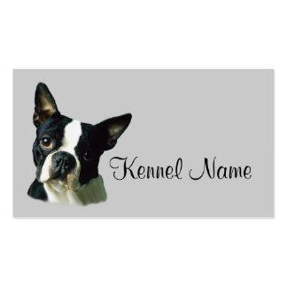 Tarjeta de visita del criador de Boston Terrier