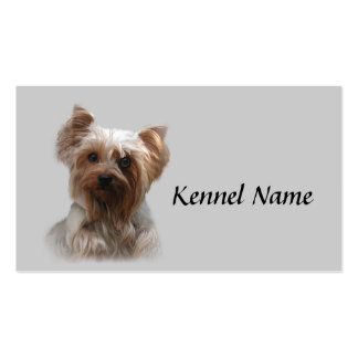 Tarjeta de visita del criador de Yorkshire Terrier