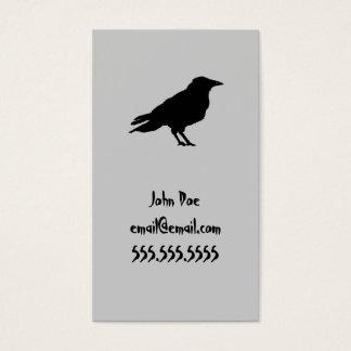 Tarjeta de visita del cuervo