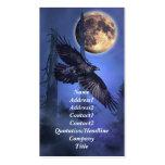 Tarjeta de visita del cuervo y de la luna