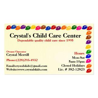 Tarjeta de visita del cuidado de niños de la guard