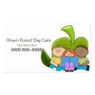 Tarjeta de visita del cuidado de niños/del cuidado
