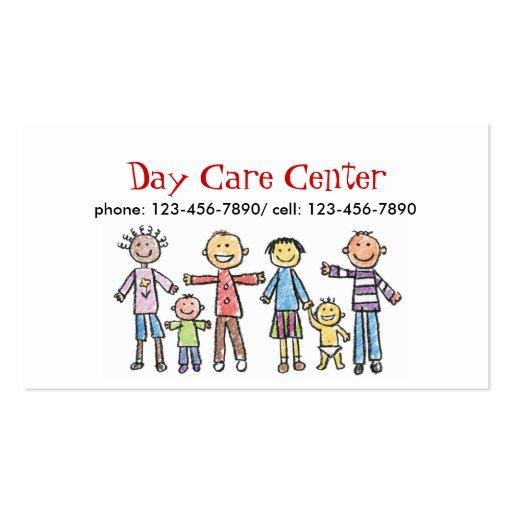 Tarjeta de visita del cuidado de niños