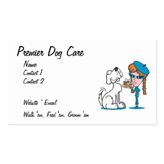 Tarjeta de visita del cuidado del perro