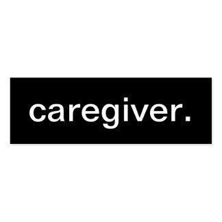 Tarjeta de visita del cuidador