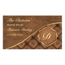 Tarjeta de visita del damasco de Ganache del cacao