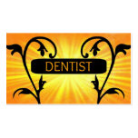 Tarjeta de visita del damasco de Sun del dentista