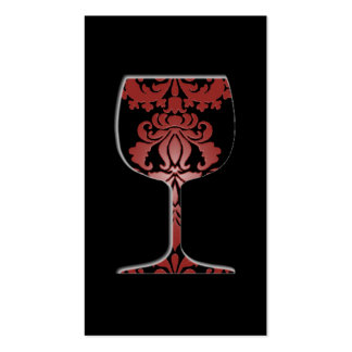 Tarjeta de visita del damasco del vino