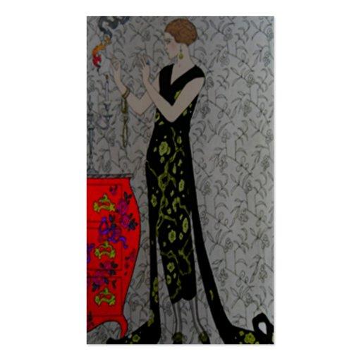 Tarjeta de visita del ~ de la placa de moda del fu