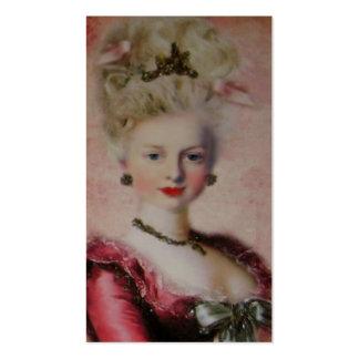 Tarjeta de visita del de la reina Marie Antoniet