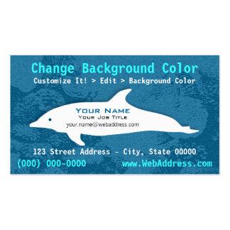 Tarjeta de visita del delfín de Bottlenose