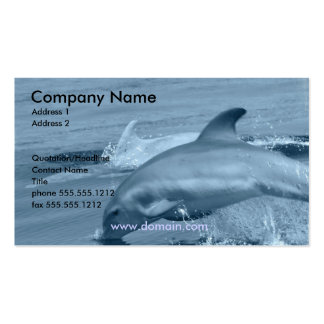 Tarjeta de visita del delfín del salto