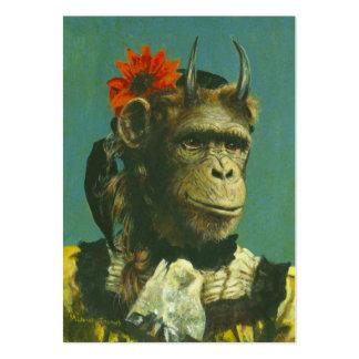 Tarjeta de visita del demonio ACEO del mono