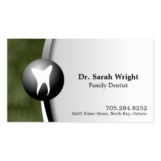Tarjeta de visita del dentista de la familia - bla
