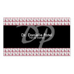 Tarjeta de visita del dentista de la familia - die