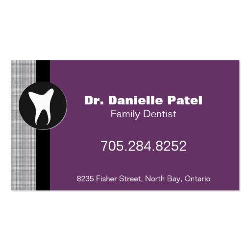Tarjeta de visita del dentista de la familia - sil