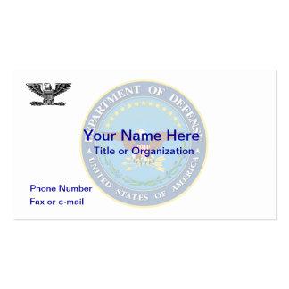 Tarjeta de visita del Departamento de Defensa O6 d