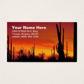 Tarjeta de visita del desierto