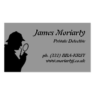 Tarjeta de visita del detective privado/del invest