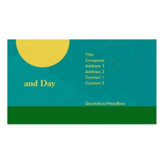 Tarjeta de visita del día y de noche