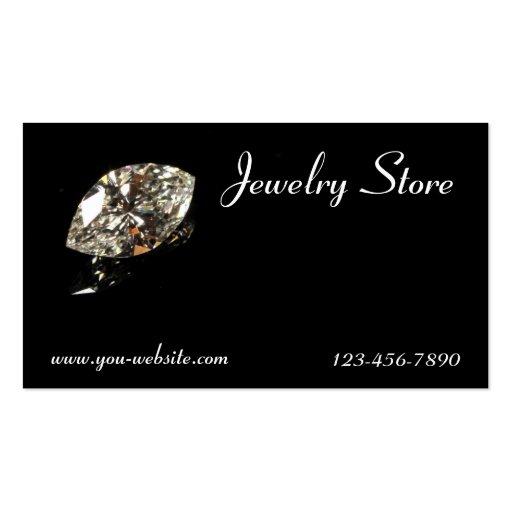 Tarjeta de visita del diamante de la joyería