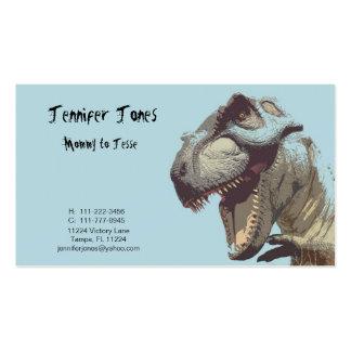 Tarjeta de visita del dinosaurio