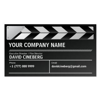 Tarjeta de visita del director de cine/del product