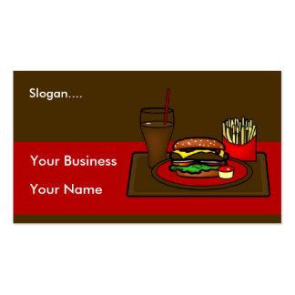 Tarjeta de visita del disco de la hamburguesa