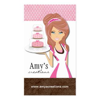 Tarjeta de visita del diseñador de la torta