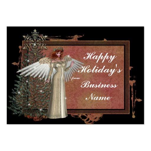 Tarjeta de visita del diseño 1 del ángel del navid