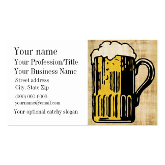 Tarjeta de visita del diseño de la cerveza