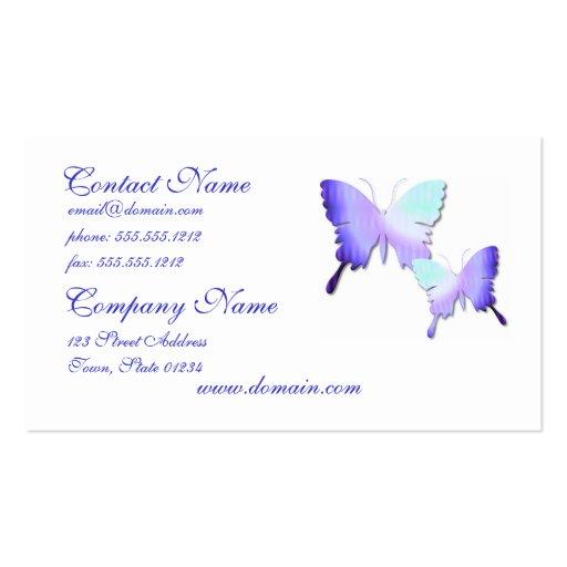 Tarjeta de visita del diseño de la mariposa