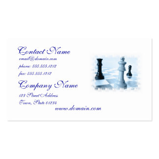 Tarjeta de visita del diseño del ajedrez