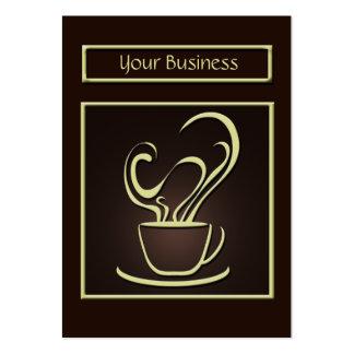 Tarjeta de visita del diseño del café