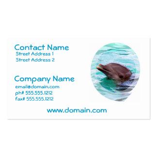 Tarjeta de visita del diseño del delfín