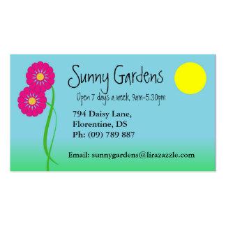 Tarjeta de visita del diseño del jardín