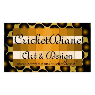 Tarjeta de visita del diseño del oro 3D de Cricket