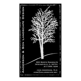 Tarjeta de visita del diseño del paisaje