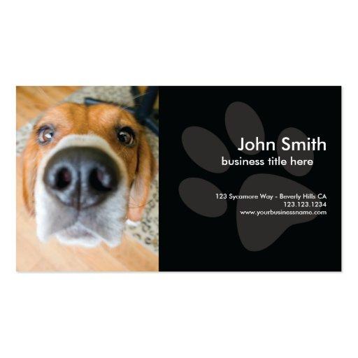 Tarjeta de visita del diseño del perro del beagle