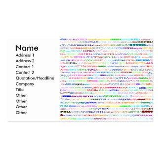 Tarjeta de visita del diseño II del texto de