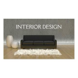 Tarjeta de visita del diseño interior