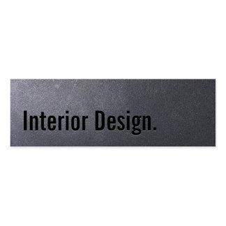 Tarjeta de visita del diseño interior del negro de