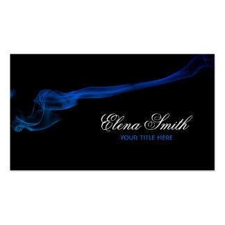 Tarjeta de visita del efecto del humo