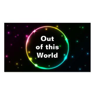 Tarjeta de visita del efecto luminoso del círculo