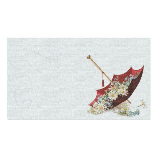 Tarjeta de visita del ejemplo del parasol del vint