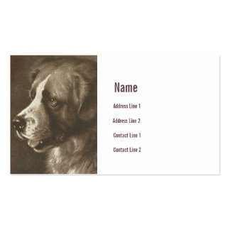 Tarjeta de visita del ejemplo del perro de St Bern
