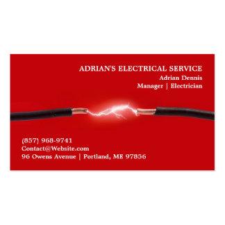 Tarjeta de visita del electricista