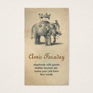 tarjeta de visita del elefante
